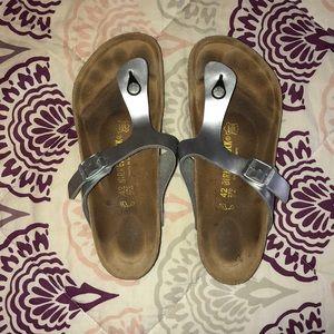 Shoes - Silver Metallic Birkenstocks